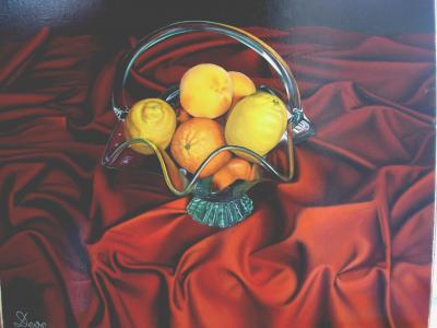 Frutero con limones