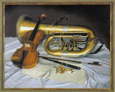 Tuba y violín